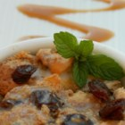 English Bread Pudding - A spicy bread-like cake containing lots of mixed dried fruit. Best served warmed with a vanilla custard.