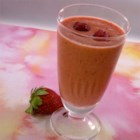Strawberry Raspberry Smoothie - Strawberries and raspberries are blended with milk and yogurt creating a probiotic-enhanced breakfast treat.
