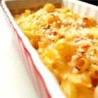 Easiest Homestyle Macaroni and Cheese - Bottled Alfredo pasta sauce is the secret ingredient to a big dish of creamy, flavorful mac and cheese with an optional  crunchy crumb topping.