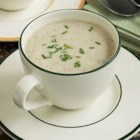 Creamy Sherry Mushroom Soup - Served as a walk-around appetizer in mugs or as a sit-down first course, this creamy soup is as easy as it is delicious -- a mushroom-lover's delight and relatively low fat. If you wish, prepare the soup a day or two in advance and refrigerate. Warm it up on the stovetop or microwave just prior to serving.