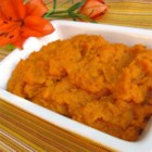 Smashed Sweet Potatoes - Sweet potatoes with orange and bourbon. I use 1/2 cup sugar but if you prefer candied sweet potatoes, use the whole cup. Orange juice can be substituted for the bourbon if you are serving to small children. Originally submitted to ThanksgivingRecipe.com.