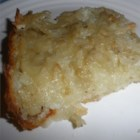 Old Fashioned Potato Kugel - Potatoes and onions are grated and baked together in this crispy side dish.