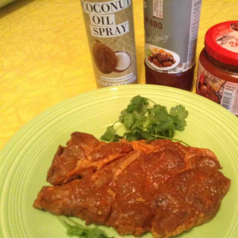 Hot and Spicy Slow Cooker Korean Barbeque Pork Shoulder