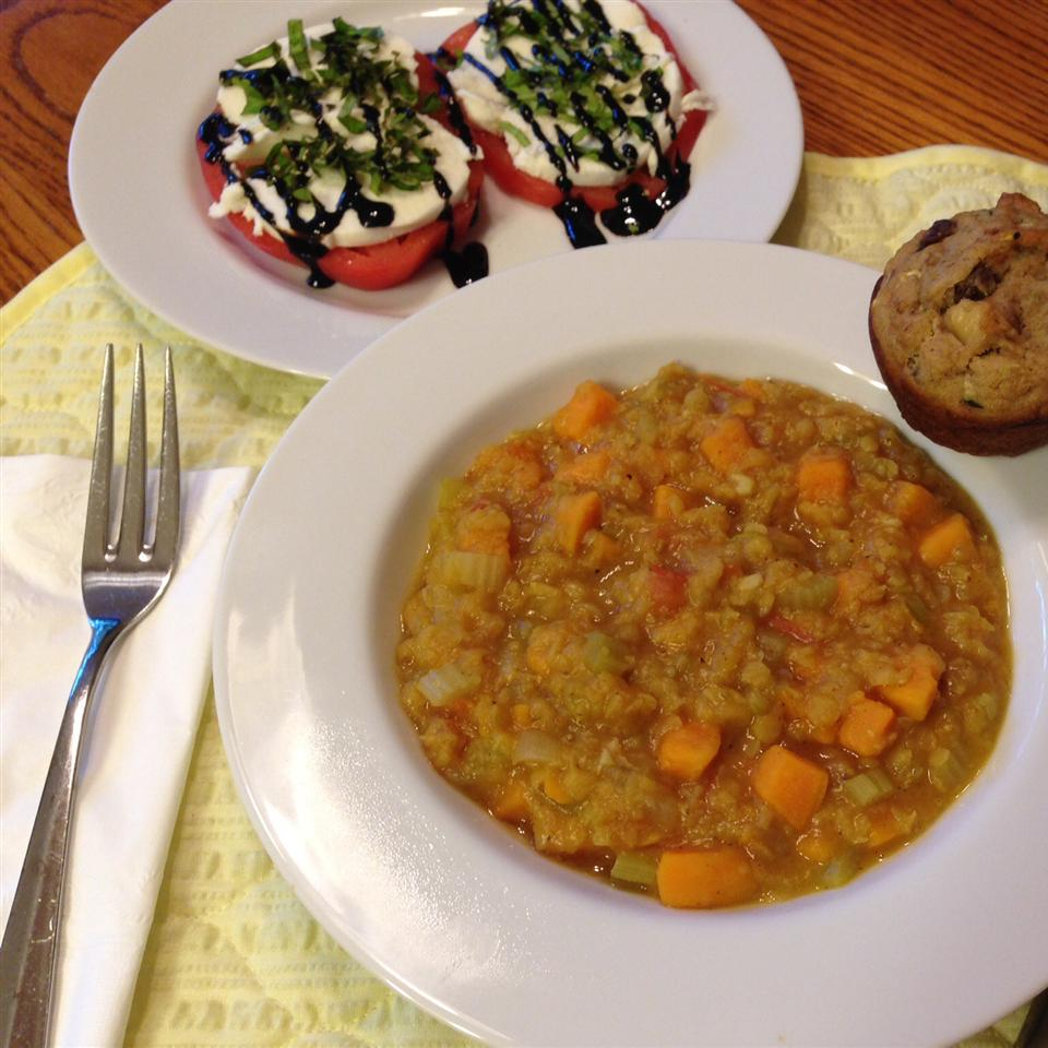 Tomato-Curry Lentil Stew