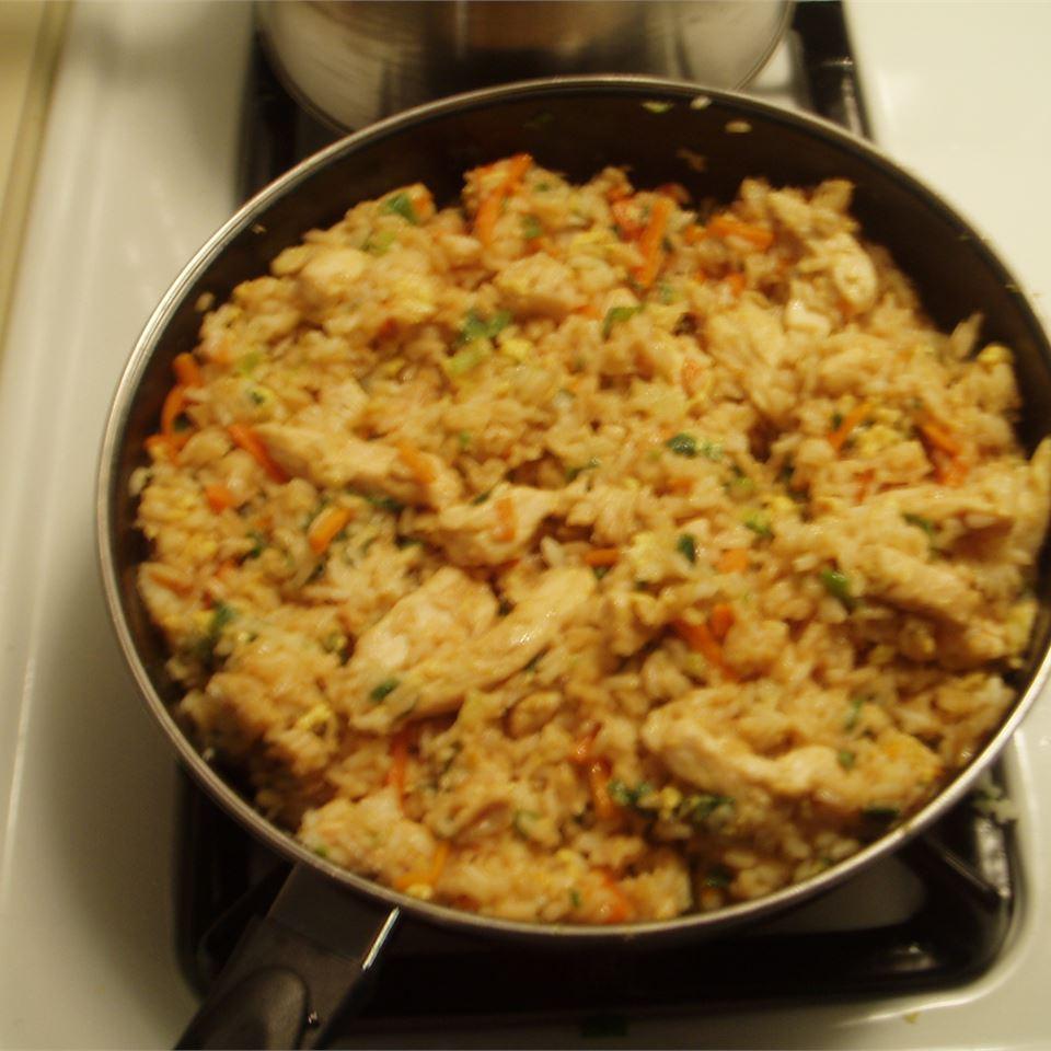 Roasted Garlic Teriyaki Fried Rice with Chicken Gwendolyn