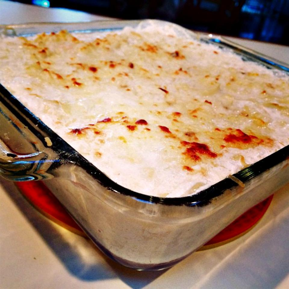 Swiss Cheese and Bacon Scalloped Potatoes