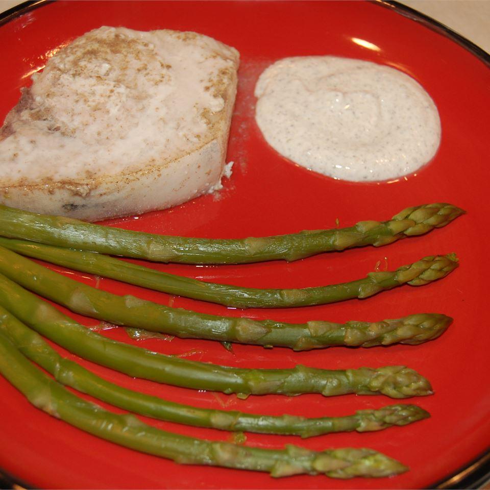Lemon Thyme Swordfish with Asparagus
