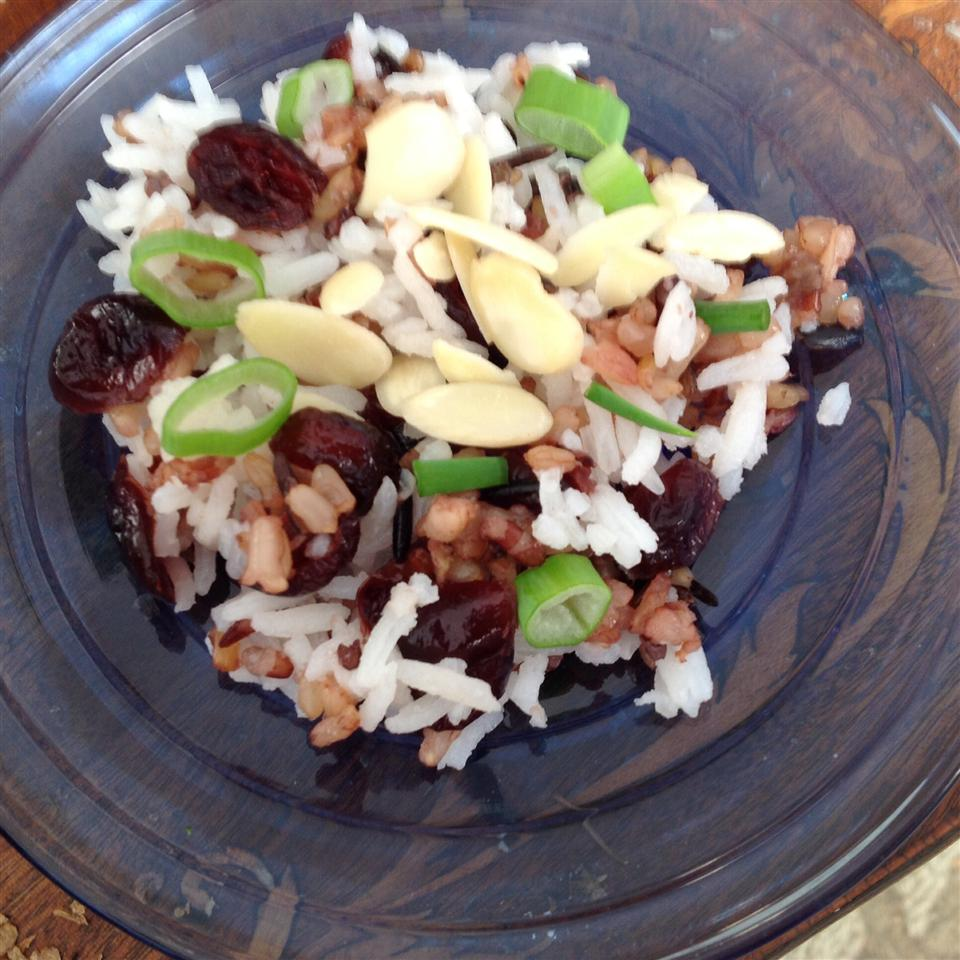 Rhubarb Wild Rice Pilaf