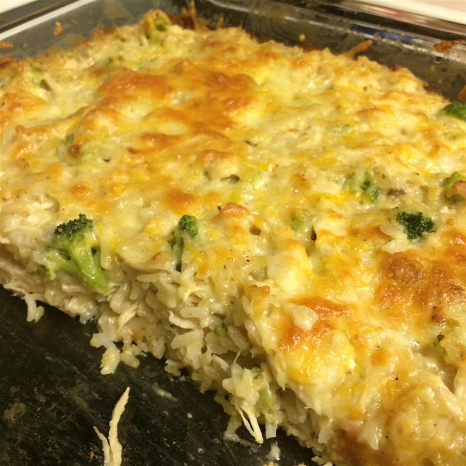 Broccoli, Rice, Cheese, and Chicken Casserole Heather