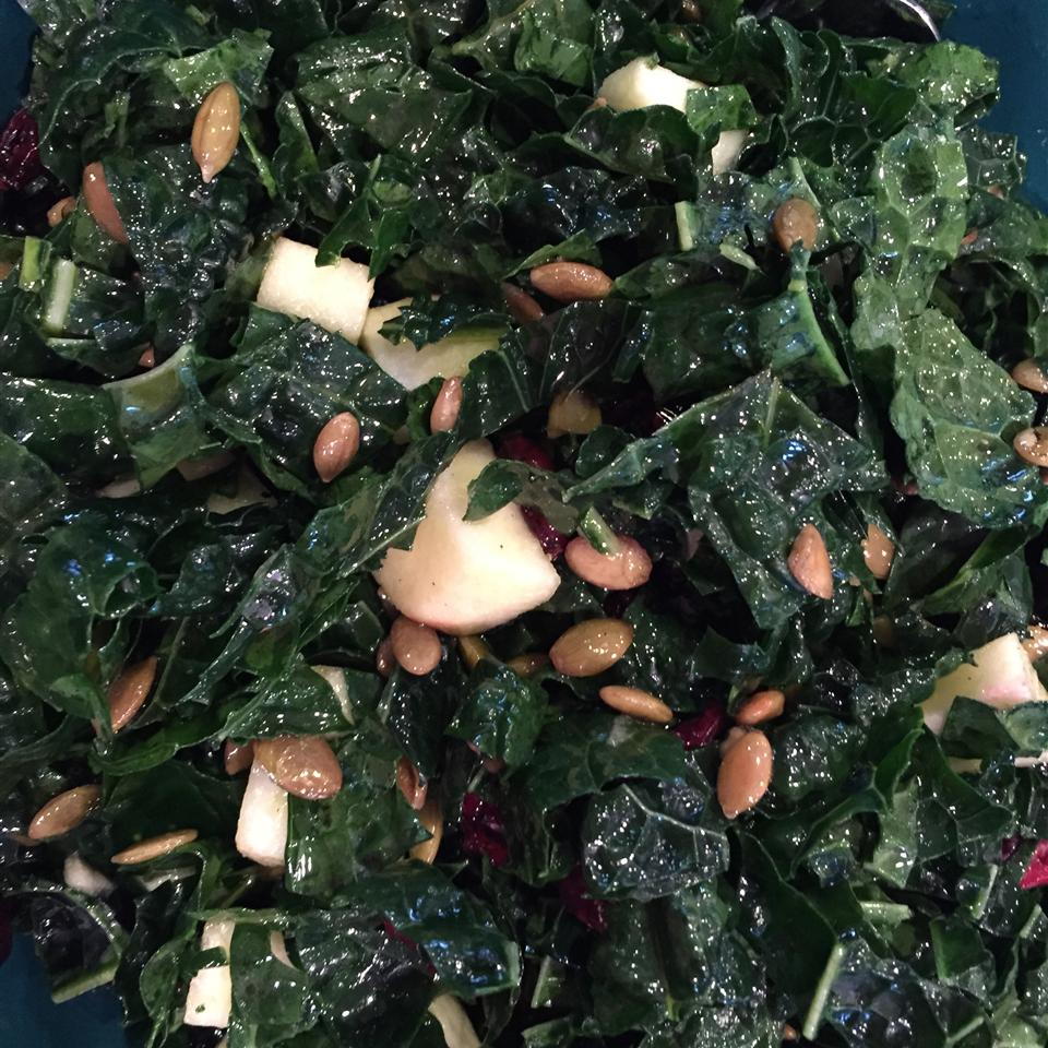 Kale Salad with Apple and Cranberries