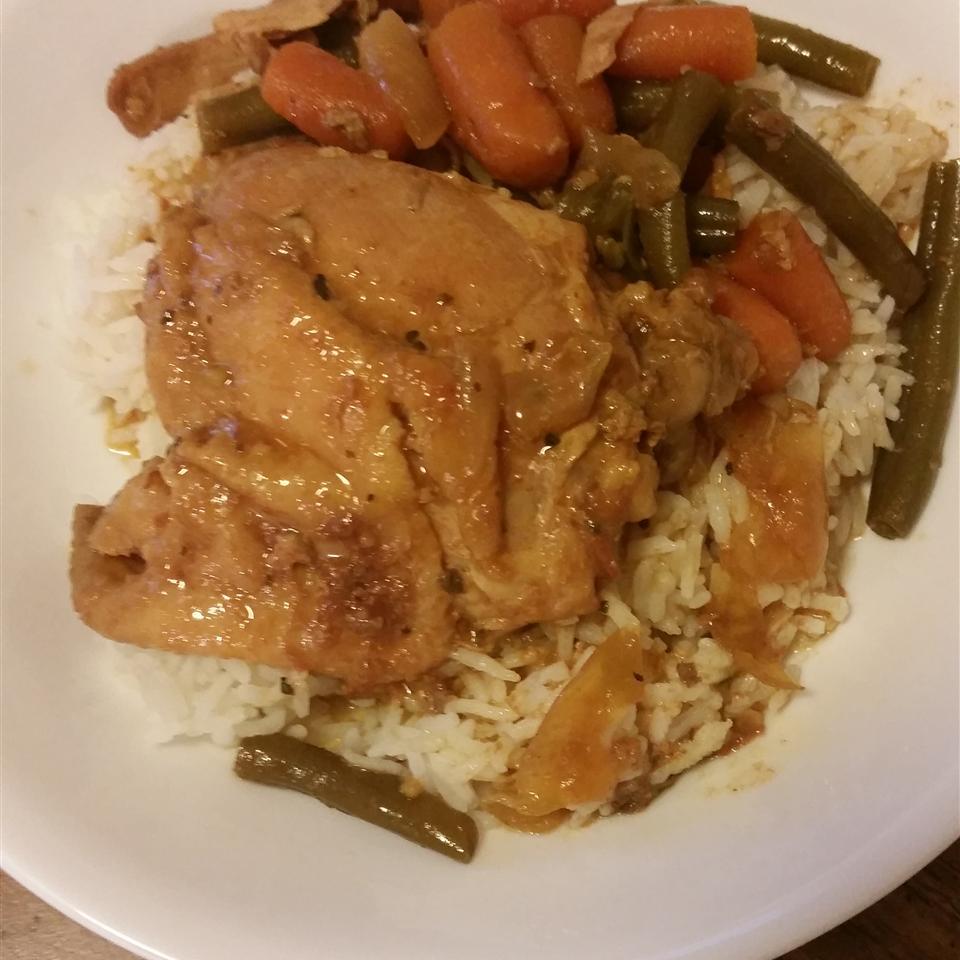 Honey-Garlic Slow Cooker Chicken Thighs Ms_Ma2705