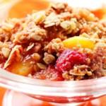 Peach-Raspberry Crisp