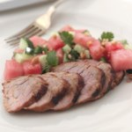 Spice-Rubbed Pork Tenderloin with Sweet & Tangy Watermelon Salad
