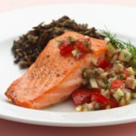 Pan-Seared Salmon with Fennel & Dill Salsa