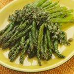 Roasted Asparagus with Caper Dressing