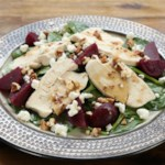 Spinach & Beet Salad with Chicken