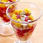 Raspberry-Mango Sundae