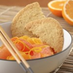Orange Crisps with Citrus Fruit Salad