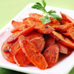 Roasted Carrots with Cardamom Butter