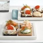 Sweet-and-Sour Fish Mini Smorrebrod (Smorrebrod med Stegte Fisk i Eddike)