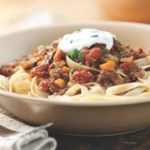 Turkish Pasta with Bison Sauce