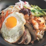 Bibimbap with Grilled Shrimp & Mushrooms