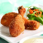 Crispy Baked Drumsticks with Honey-Mustard Sauce for Two