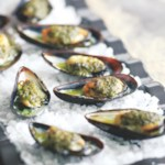 Grilled Mussels with Salsa Verde