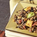 Wild Rice Pilaf with Sweet Potatoes & Brussels Sprouts
