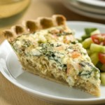 Shrimp & Spinach Quiche