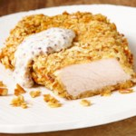 Pretzel-Crusted Pork Cutlets with Mustard Sauce for Two