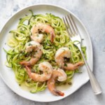 Shrimp Piccata with Zucchini Noodles
