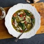 Pesto Chicken & Cannellini Bean Soup