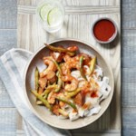Green Bean, Eggplant & Shrimp Stir-Fry