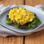 """Vegan Cauliflower """"Egg"""" Salad"""