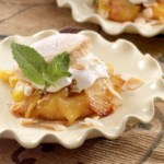 Roasted Pineapple Shortcakes