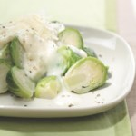 Brussels Sprouts with Sherry-Asiago Cream Sauce