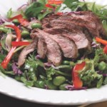 Seared Steak Salad with Edamame & Cilantro