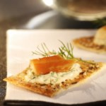 Smoked Trout Crackers with Lemon-Dill Mayonnaise