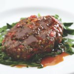 Asian Salisbury Steaks with Sauteed Watercress
