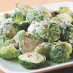 Brussels Sprouts with Bacon-Horseradish Cream