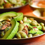 Bean & Salmon Salad with Anchovy-Arugula Dressing
