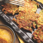 Golden Turmeric Latkes with Applesauce