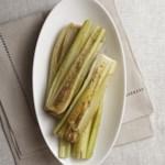 Braised Celery Hearts with Honey-Mustard Vinaigrette