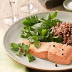 Poached Salmon with Fresh Herb Salad