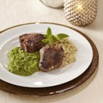 Lamb Chops with Mashed Peas & Mint