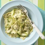 Spinach Ravioli with Zucchini Ribbons