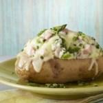 Asparagus & Ham Stuffed Potatoes for Two