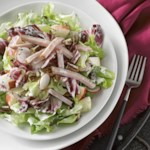 Chopped Ham & Apple Salad with Creamy Parmesan Dressing