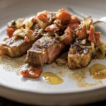 Rib-Eye Steaks with Piquillo Pepper Sauce